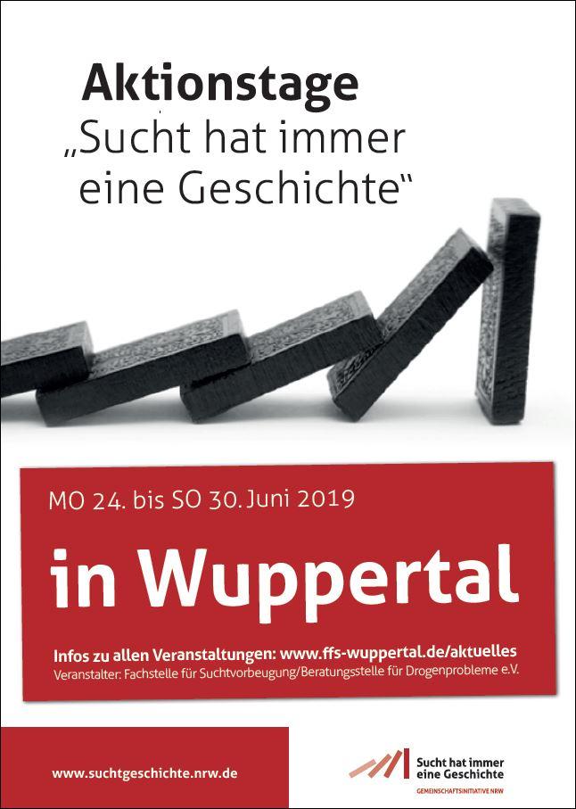 Ankündigungsplakat Wuppertal