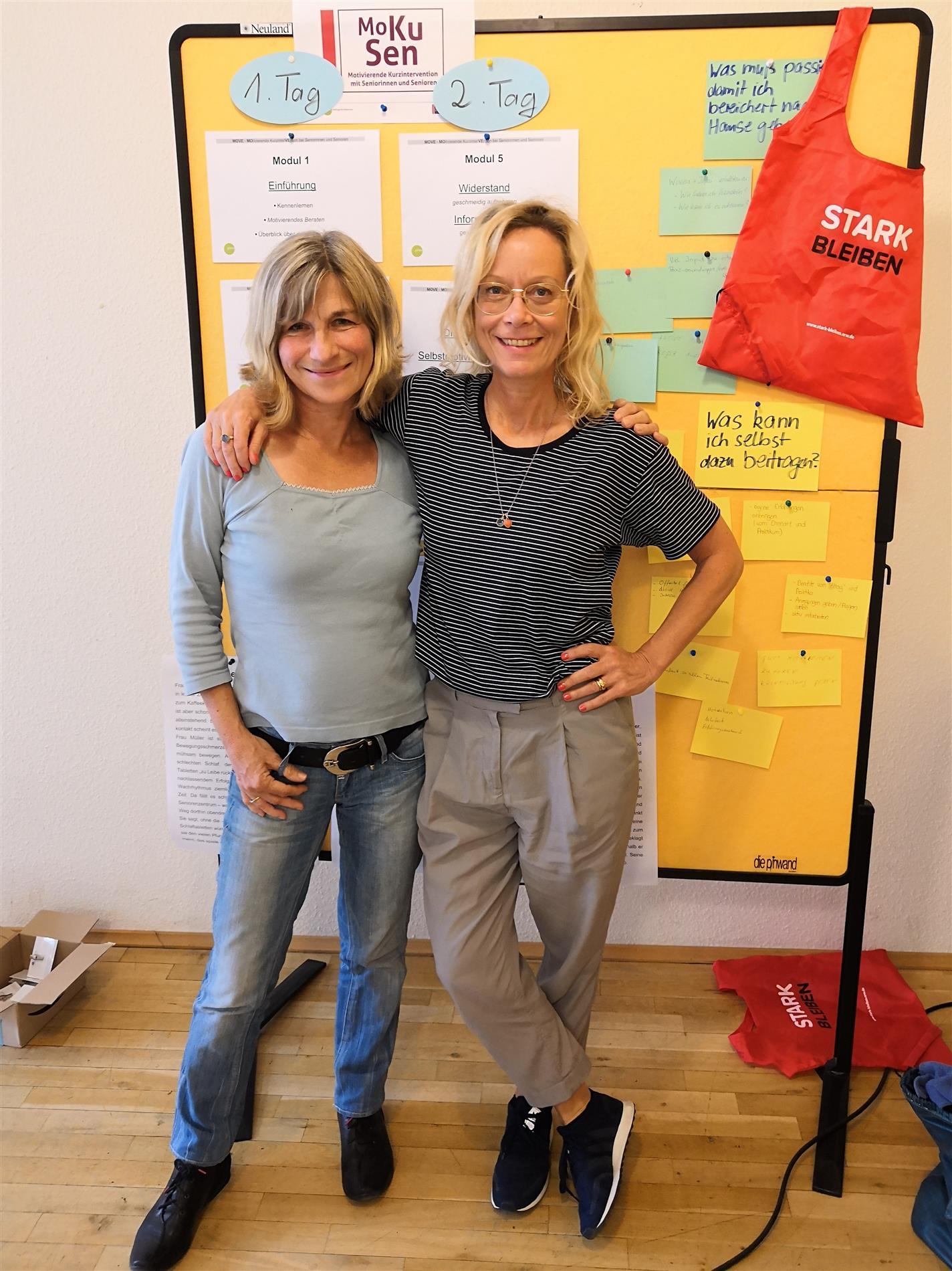 Die Referentinnen Angelika Fiedler und Ellen Buchholz